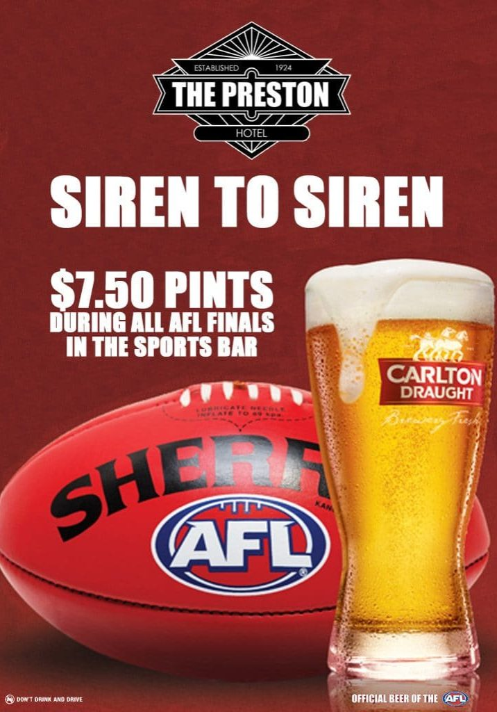 AFL FINALS SIREN TO SIREN